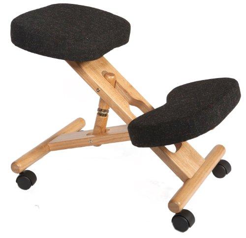 Siège Ergonomique Gris Roulettes Tabouret Posture Dos Bureau Kneeling chair