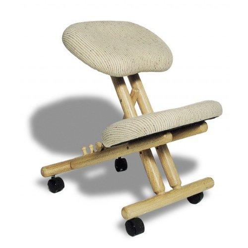 Siège assis-genoux ergonomique professionnel sans dossier couleur Naturelle