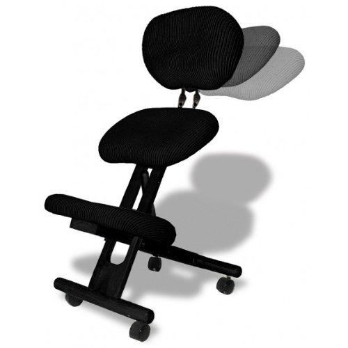 Chaise ergonomique professionnel avec dossier couleur Noir