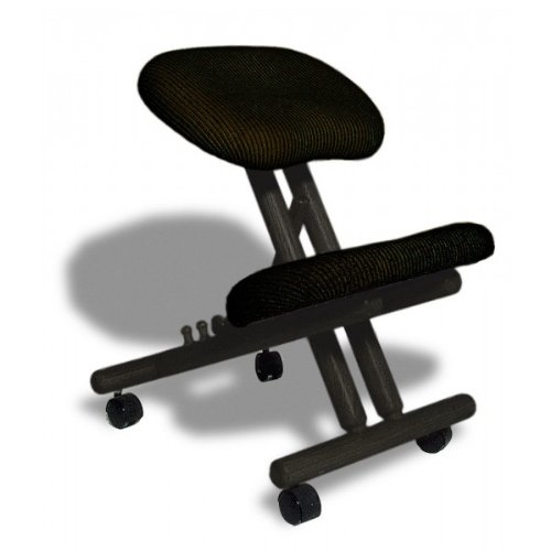 Siège assis-genoux ergonomique professionnel sans dossier couleur Noir