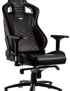 gaming fauteuil bureau faux cuir noir rouge
