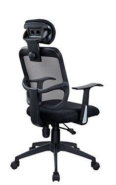 Fauteuil de bureau ergonomique à bascule avec dossier filet noir