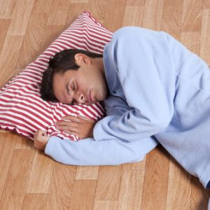 sleep on the floor back pain