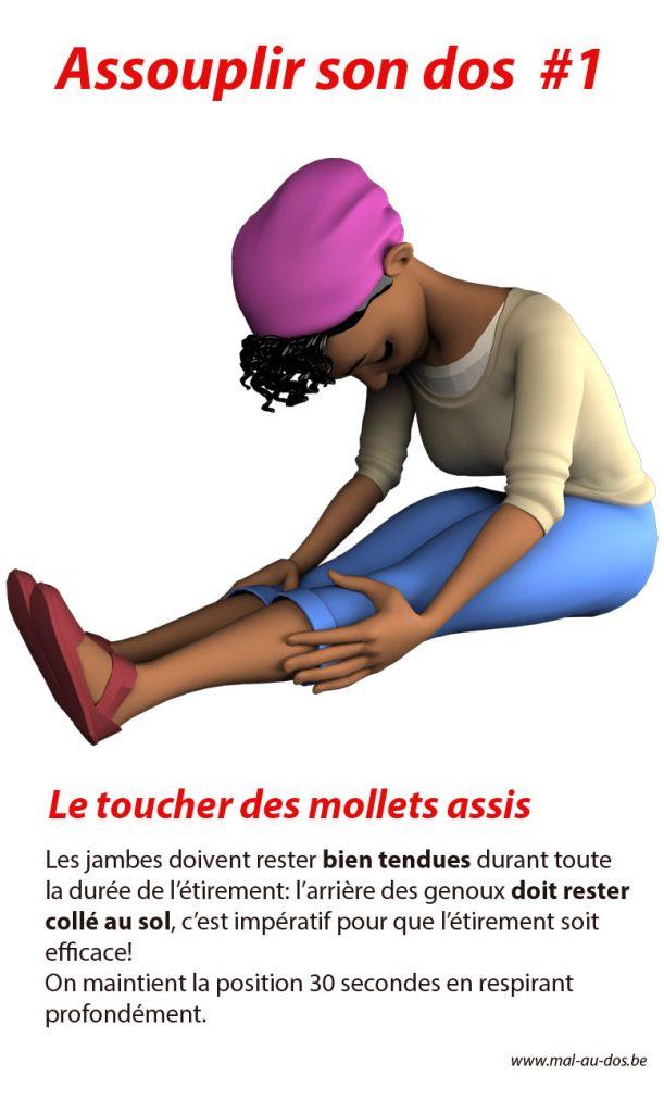 Assouplir son #dos stretch 1: Les jambes doivent rester bien tendues durant toute la durée de l'étirement.