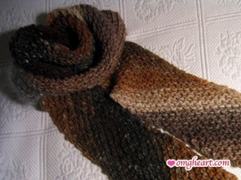 Noro Transitions Scarf in Earthtones