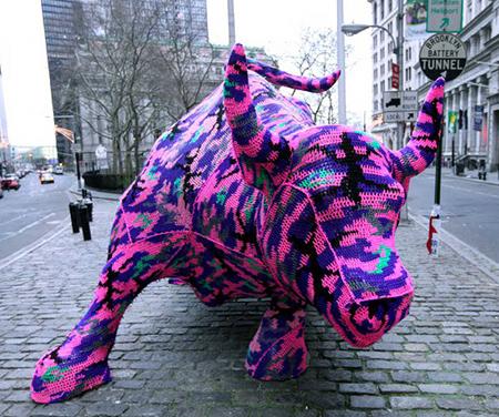 Wall Street Gets Crocheted!