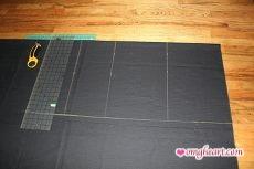 Burda Skirt - Measuring and Cutting