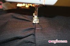 Burda Skirt - Stitching in the Ditch