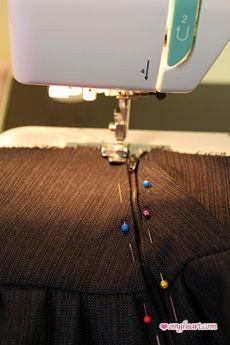 Burda Skirt - Sewing on the Zipper
