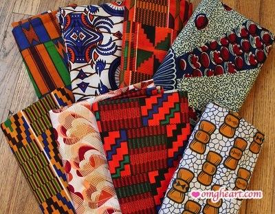 African Print Fabric Set