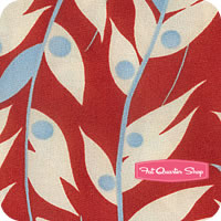 Happy Daisy Red Bamboozle by Chloe's Closet for Moda Fabrics