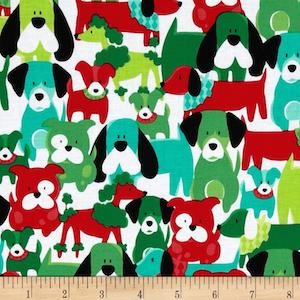 Dog Dang It Hollyberry by Michael Miller $9.48 per yard