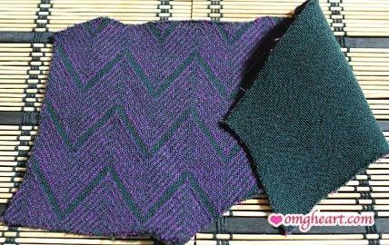 Purple & Green Chevron from Mood Fabrics