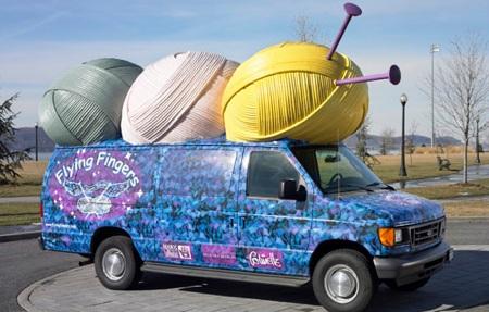 Yarn Bus - Flying Fingers Yarn Shop