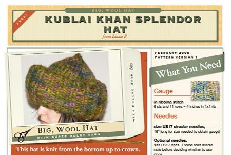 Pattern: Kublai Khan Splendor Hat