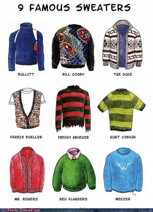 9 Famous Sweaters