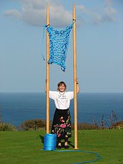 Julia Hopson and Knitting with the Largest Knitting Needles in the World