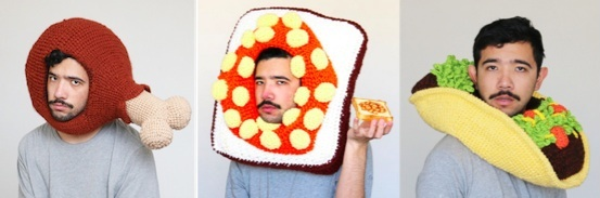 Crochet Food Hats by Chilly Philly