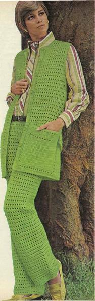 Crochet Pants Set