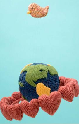 Globe and Bird