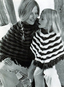 Mother Daughter Ponchos