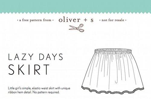 Pattern: Oliver + S Lazy Days Skirt