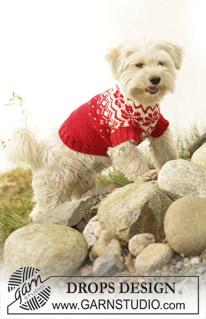 Norwegian Pattern Dog Coat by DROPS