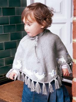 Knit Rowan Hooded Baby Poncho