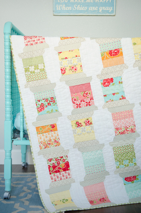 Spools Quilt Pattern by Camille Roskelley