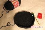 Newsboy Cap - Work In Progress. It's crocheted like a dome!