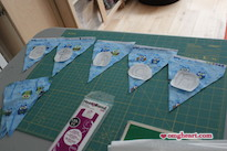 Simple Baby Bunting - Cut out triangles and free-hand draw some letters.