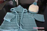 Crochet Baby Hoodie & Hat Set
