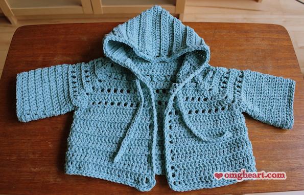 Crochet Baby Hoodie and Hat Set