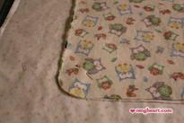 Simple Blanket - Trim rounded corner.