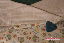 Simple Blanket - Mark a 6-inch wide opening to NOT SEW!