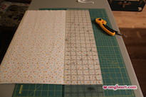 Simple Blanket - Clean up edges. I used a quilting ruler and rotary cutter.