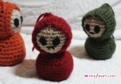 Crochet Critters in Winter Colors or The Last Remnants of Winter