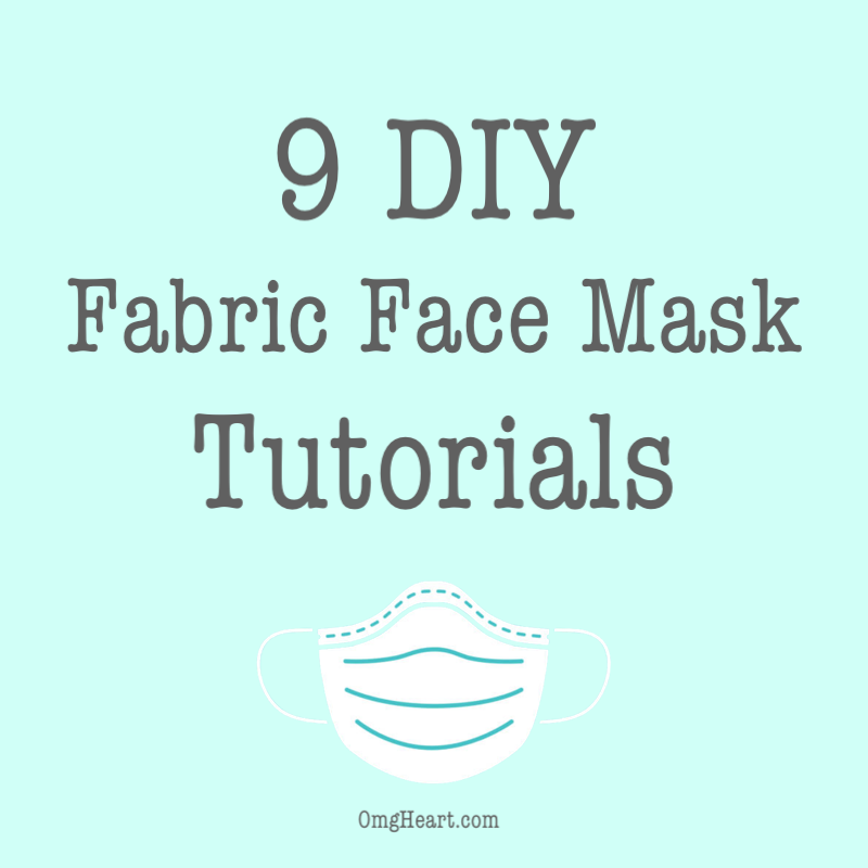 9 DIY Fabric Face Mask Tutorials