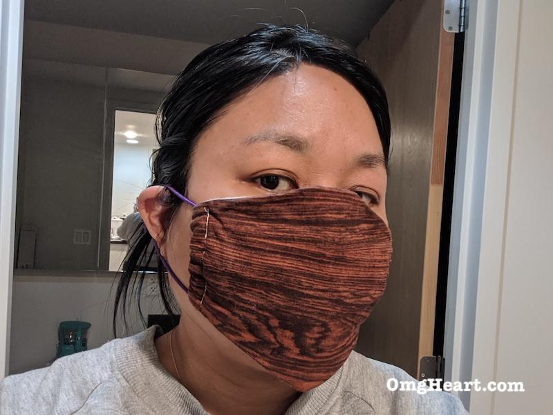 DIY Fabric Face Mask Basic Contoured