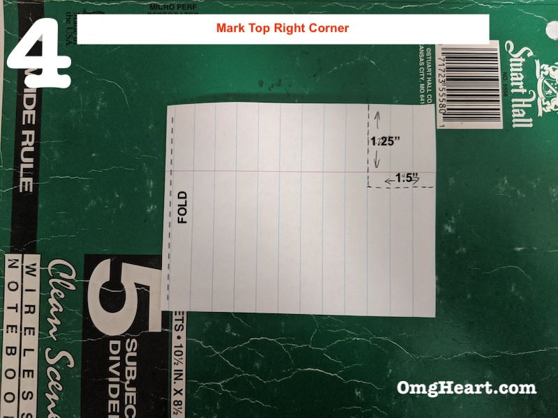 Create Template - Mark Top Right Corner
