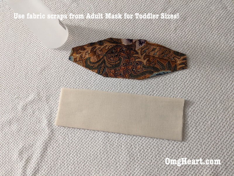 Cut and Sew Toddler + Baby Face Masks