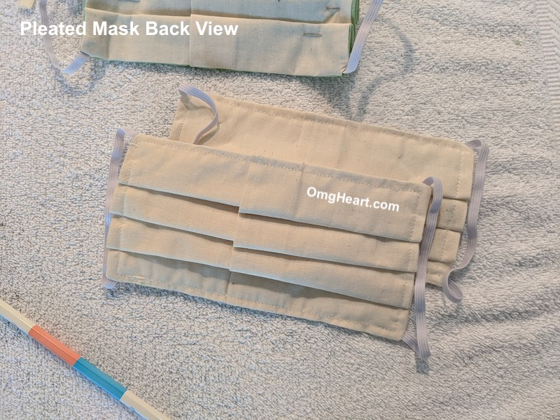 Pleated Face Mask with Pocket