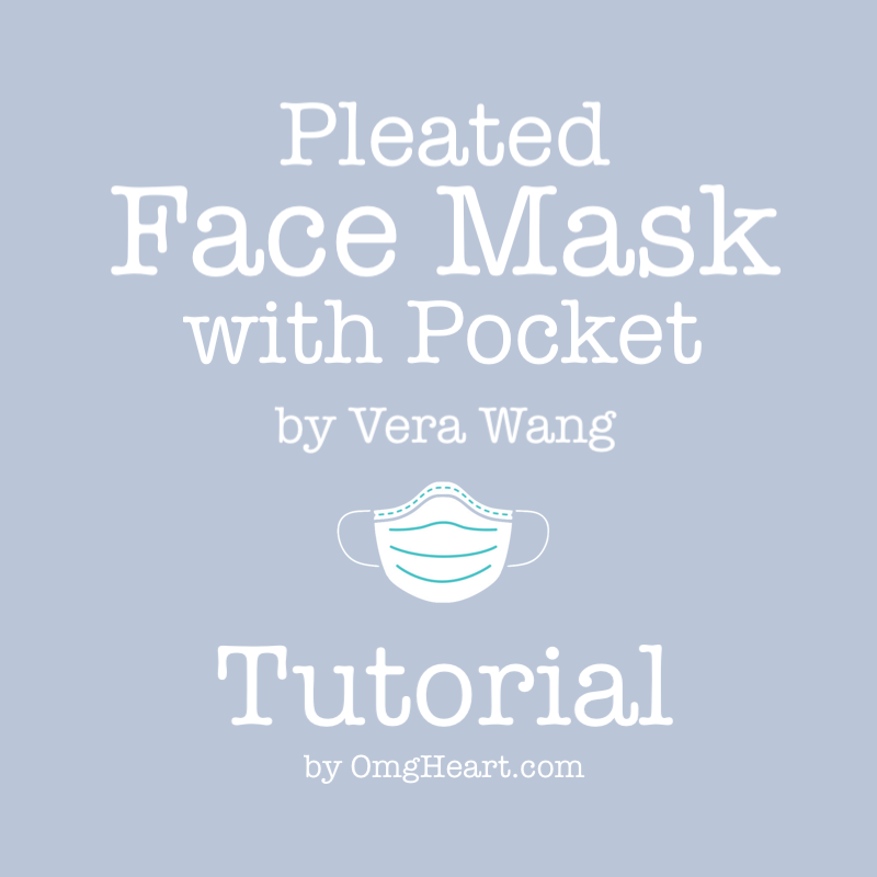 How-To: Pleated Face Mask with Pocket by Vera Wang