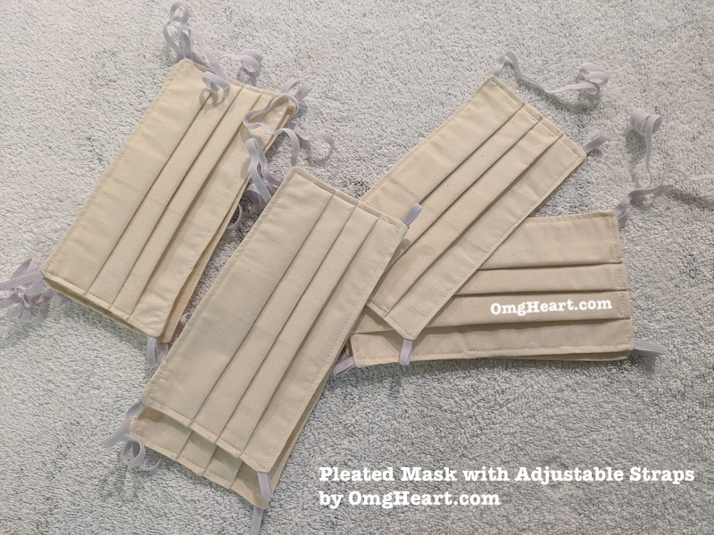 Pleated Fask Mask with Adjustable Straps by Omgheart.com