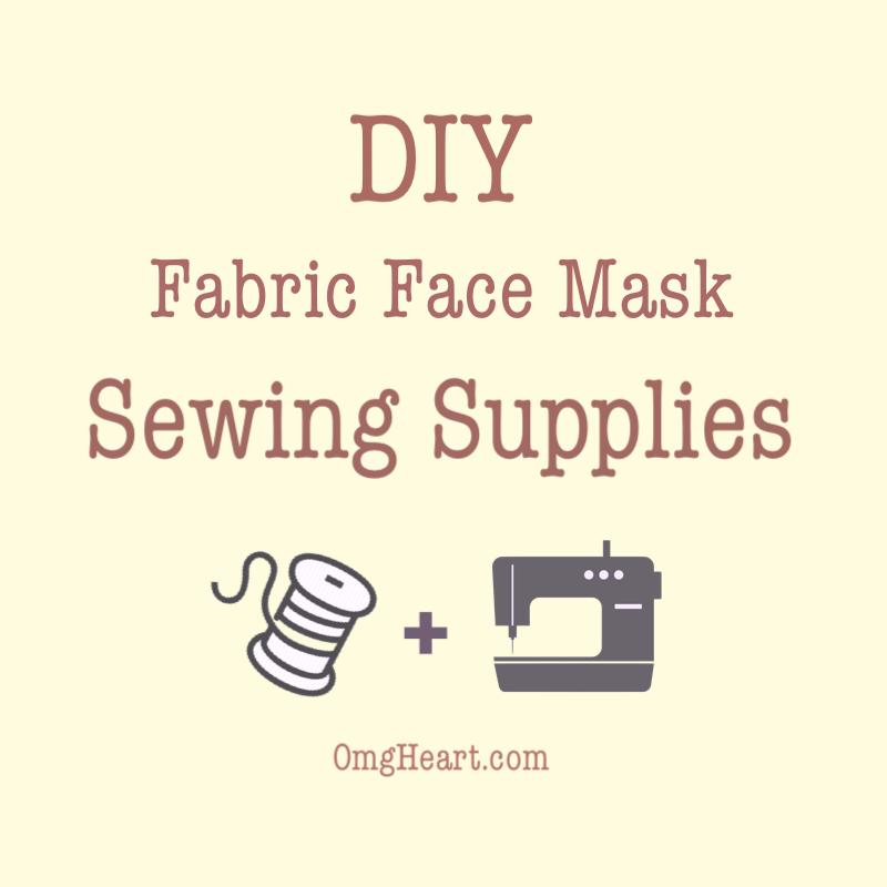 DIY Fabric Face Mask Supplies