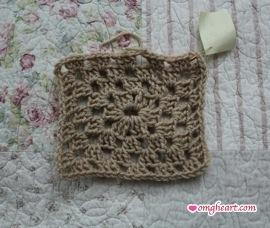 Granny Square - Rectangle in Double Crochet