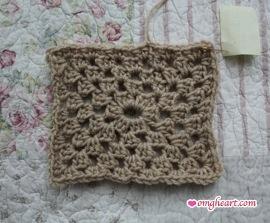 Granny Square - Rectangle in Half Double Crochet