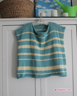 Knitted Nautical Top by OMG! Heart