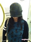 Hat pulled down. It's huge! - Slouchy Hat