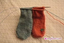 Socks Front View - Complete to Ankle